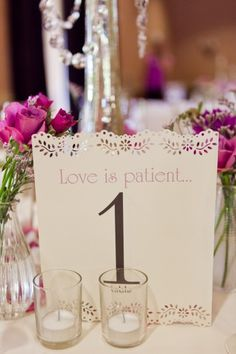 Table number with bible verse