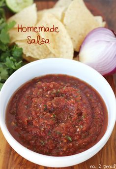 Easy Homemade Salsa - this is so easy, you will never go back to store bought salsa.