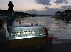 Brac, Croatia...the land of ice cream. Lemon is my favorite.