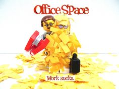 https://flic.kr/p/cXqeQ7 | Lego Office Space Wallpaper |  Lego office space custom  mini-figures