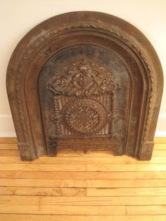 Antique Gothic Victorian Cast Iron Fireplace Surround Summer Cover 1860's Ornate | eBay