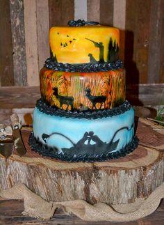 Wedding reception barn, wedding décor, Christmas wedding, wedding reception, groom cake, rustic cake, sportsman groom cake. Rustic barn wedding and reception venue in Alabama whiteacresfarms.com