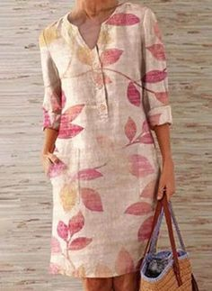 Simple Dresses, Casual Dresses, Casual Outfits, Latest Fashion For Women, Womens Fashion, Fashion Online, Vestido Casual, Linen Dresses, Women's Fashion Dresses