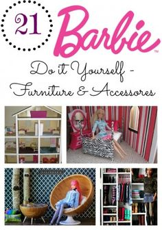 DIY Barbie Furniture & Accessories Round Up - Check out these 21 Great Ideas