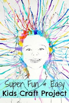 Super Fun Watercolor Kids Craft Project That you HAVE to try today! Your Kids will have so much fun doing this! Super Fun Watercolor Kids Craft Project That you HAVE to try today! Your Kids will have so much fun doing this! Craft Projects For Kids, Easy Crafts For Kids, Craft Activities For Kids, Diy For Kids, Art Projects, Craft Ideas, Preschooler Crafts, Fun Crafts, Painting Activities