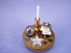 miniature dollhouse accessories from buttons | Dollhouse Lazy Susan With Magic Accessories by thefaerywatcher