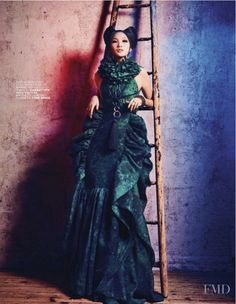 Extreme Couture in L'Officiel France with Emma Xie