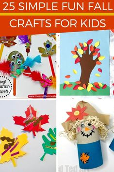 Fall crafts for kids! 25 different fall craft ideas for kids to make at home or at preschool. Autumn crafts for toddlers, preschoolers, and even up through tweens. 25 fun autumn crafts for your kids. Check them out! #fallcrafts #fallcraftsforkids #autumncrafts #kidscrafts #kidsactivities #parenting Fall Activities For Toddlers, Autumn Activities, Craft Activities, Preschool Crafts, Indoor Activities, Easy Fall Crafts, Crafts For Kids To Make, Holiday Crafts, Fun Crafts