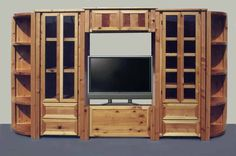 built in entertainment center designs | Wood And Iron Shelf - Wrought Iron And Exotic Cedar - CIS980 : Custom ...