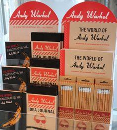 Andy Warholin muistikirjoja ja kyniä myynnissä Särkänniemen Tornipuodissa Näsinneulan juuressa. / Andy Warhol Idea Journal´s, Art Book´s and pencil´s. Buy your own at Särkänniemi Tornipuoti.