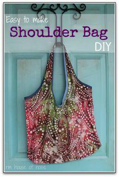 House of Noise... I mean boys.: Easy to Make Shoulder Bag DIY