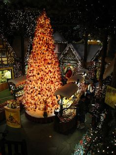 Rothenburg, Germany ~ this is in the Christmas museum that is in town.  There is also a large shop attached so you can shop.