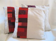 V-Day Patchwork Pillows