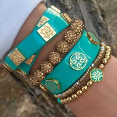 Turquoise and Gold!
