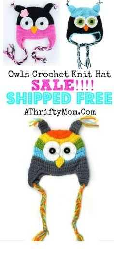 owl hats ...OH MY GOODNESS this is so cute #owl #owls #hat
