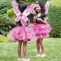 Sugar plum fairy butterfly princess fancy dress costume tutu skirt