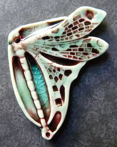 This is gorgeous!  Dragonfly by Nancy E. Schindler (aka Round Rabbit).  Love it!!!