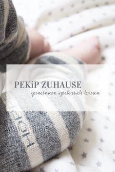Spielerisch lernen nach Pekip einfach zu Hause mit einfachen Anleitungen und Ideen. PEKiP ohne Kurs einfach selber machen. Babygymnastik.