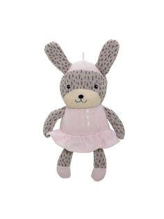 bloomingville-strikket-kanin-rosa
