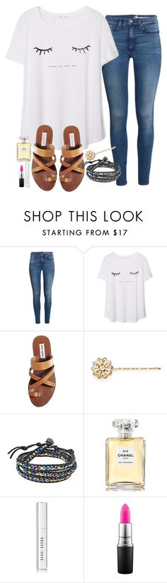 """""""when you stand on your tippytoes and you're still shorter than all your friends"""" by madixoxo21 ❤ liked on Polyvore featuring H&M, MANGO, Steve Madden, Miriam Haskell, AeraVida, Chanel, Bobbi Brown Cosmetics, MAC Cosmetics, women's clothing and women"""