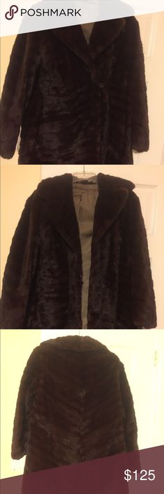 Mink coat Vintage mink coat in great condition. Has one clip closure. No damage. Would fit size 4-6 It has a name printed inside. Perfect condition Jackets & Coats