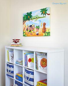 Hawaiian wall art for kids