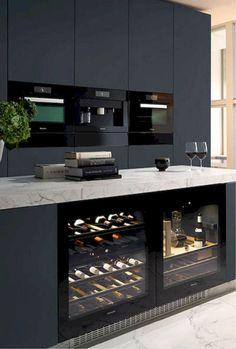12 Nice Ideas for Your Modern Kitchen Design black kitchen units interior design Cabnits Kitchen, Kitchen Stove, Kitchen Units, Kitchen Layout, Kitchen Decor, Ikea Kitchen, Kitchen Pantry, Kitchen Appliances, Kitchen Ideas