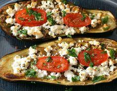 Roasted Eggplant with Tomato and Feta