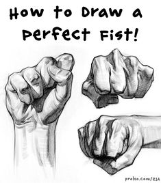 In this demo you'll learn all about drawing fists. This is a tricky pose that really requires a good understanding of the underlying anatomy. drawing, Drawing a Perfect Fist – HANDS in Action! Drawing Book Pdf, Figure Drawing Books, Human Figure Drawing, Drawing Tips, Learn Drawing, Drawing Techniques, Drawing Drawing, Drawing Poses, Hand Drawing Reference