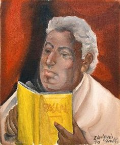 Auto-retrato lendo [Pascal], 1970 Di Cavalcanti (Brasil, 1897-1976) óleo sobre tela