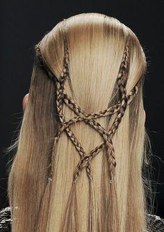 Intricate medieval style braid design