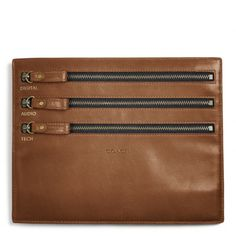 The Bleecker Legacy Leather Electronic Cord Zip Pouch from Coach - #somuchwant