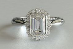 Emerald Cut Engagement Rings Vintage Photos