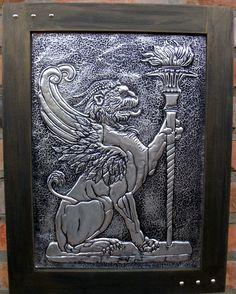 QUIMERA - Arte em repujado sobre alumínio.