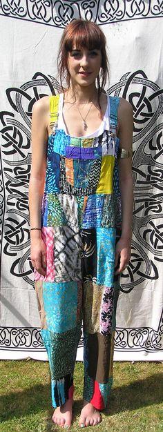 1e6e0f30a3 Patchwork dungarees jumpsuit overalls aztec funky festivals hippy boho