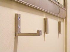 fold away hooks from Ikea. How fabulous!!
