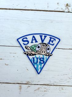 Save US / Save The Sea Turtle / Save the World Patch / Protect Animal and Environment Patch - Embroidery Iron on Patch by SundayNeek on Etsy Custom Iron On Patches, Save The Sea Turtles, Act For Kids, Save Our Earth, Save Nature, World Quotes, Animal Protection, Clothing Patches, Marine Biology