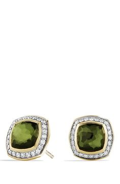 'Albion' Earrings with Semiprecious Stone and Diamonds in