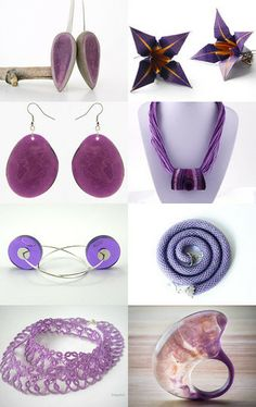 purple jewelry by Matylda on Etsy--Pinned with TreasuryPin.com