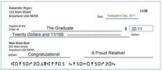 Unique family gift idea--everyone sends the graduate a check for that reflects the year.  Ex. $20.12  Get it?  The amount of the check is the same as the graduation year.