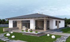 Model House Plan, My House Plans, Home Building Design, Building A House, Exterior Wall Design, Rest House, Container Buildings, House Front Design, Backyard Patio Designs