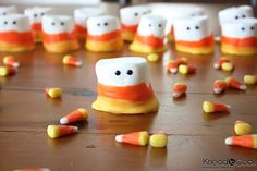 marshmallow candy corn people