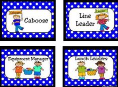 Encourage Leadership Roles in your classroom with these Job Cards