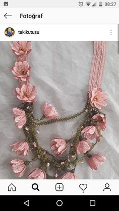 Yarn Flowers, Crochet Flowers, Crochet Art, Crochet Stitches, Rose Wedding, Crochet Scarves, Wedding Bouquets, Crochet Necklace, Applique