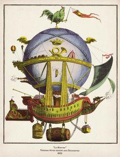 La Minerve Steampunk Hot Air Balloon