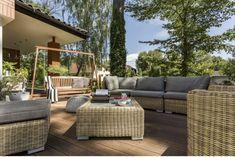 Outdoor Seating, Outdoor Sofa, Outdoor Spaces, Outdoor Decor, Outdoor Patios, Wicker Furniture, Garden Furniture, Outdoor Furniture Sets, Cozy Furniture