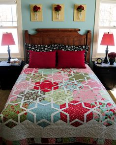 Bed quilt.     Heather Mulder Peterson designs remind me Cath Kidston. Check out her designs at http://ankastreasures.wordpress.com/