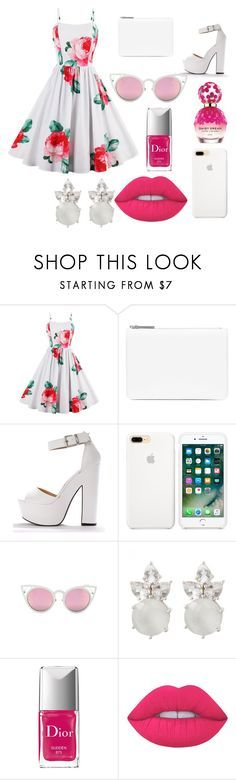 """P!NK II"" by fatimachavezdagry ❤ liked on Polyvore featuring Maison Margiela, Christian Dior, Lime Crime and Marc Jacobs"