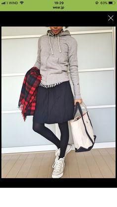 Daily Fashion, Love Fashion, Spring Fashion, Girl Fashion, Winter Fashion, Fashion Looks, Fashion Outfits, Womens Fashion, Japanese Fashion