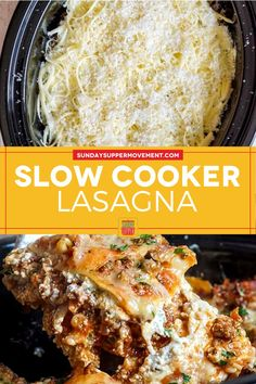 Crockpot Lasagna Recipe, Slow Cooker Lasagna, Crockpot Meals, Slow Cooker Recipes, Tasty Lasagna, Crock Pot Food, True Food, Cheesy Recipes, Homemade Soup